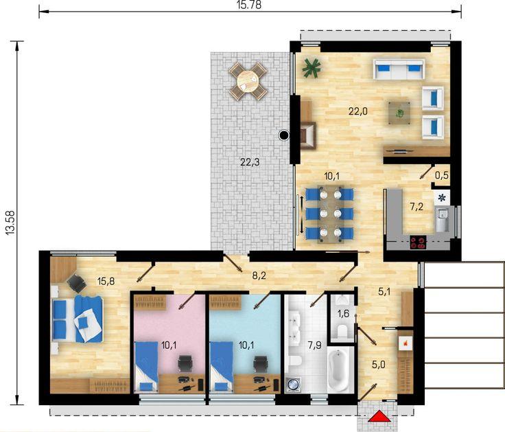podorys domu tvar L - Hľadať Googlom