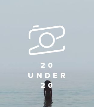 Flickr 20 under 20 logo. Excellent typographic design. » #camera #icon