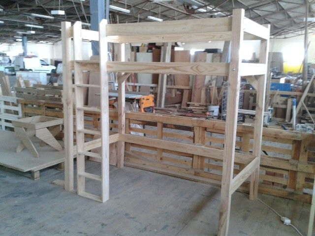 Custom built Pine Loft Bed