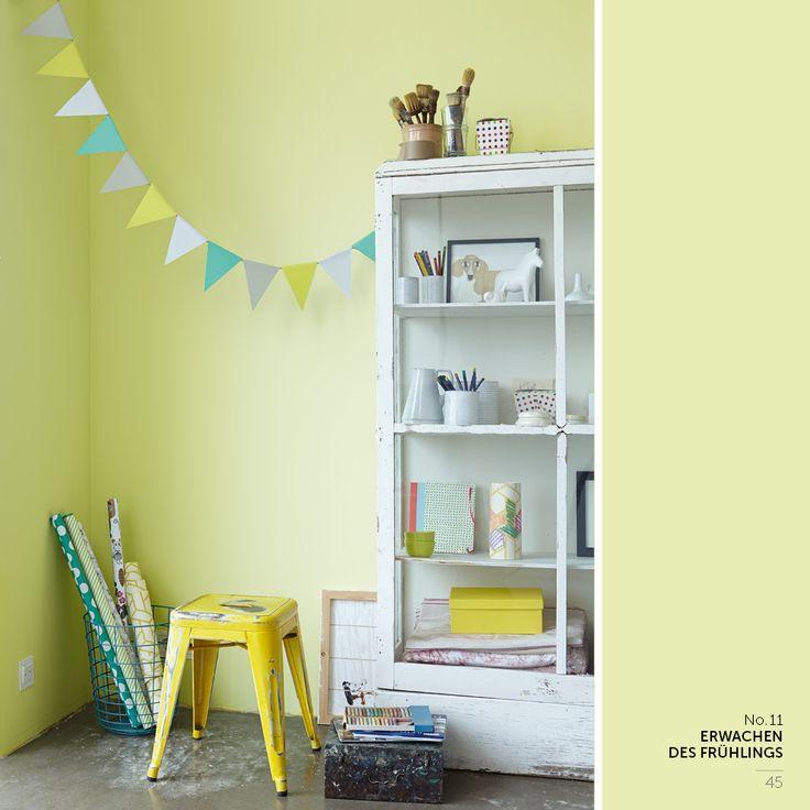 Alpina erwachen des Frühlings Kinderzimmer weiß/gelb