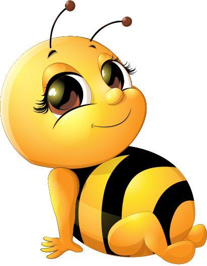 Bee baby cute vector set 03