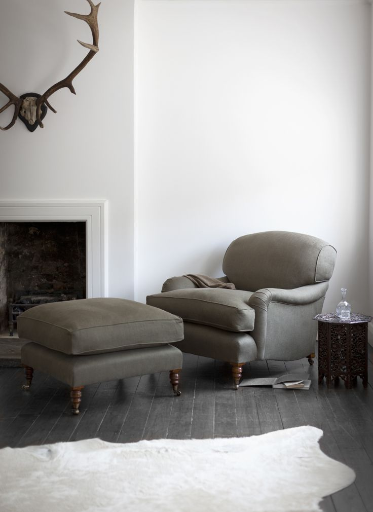 The Howard chair and ottoman. Put your feet up and daydream.