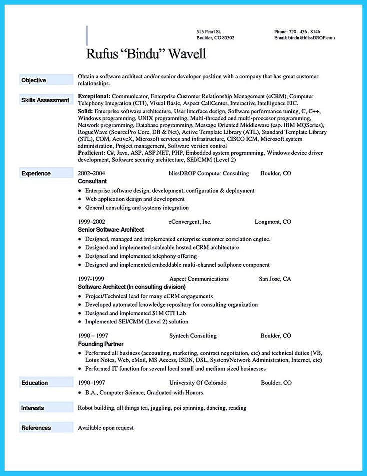 Software Architect Sample Resume 9 Best Lean Job Images On Pinterest  A Business Business Cards And .