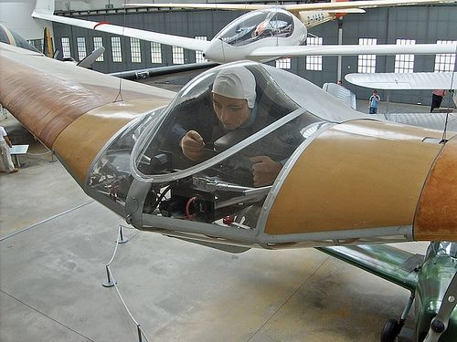 Horten IV flying wing glider, restored and on display at the Deutsches Museum Flugwerft