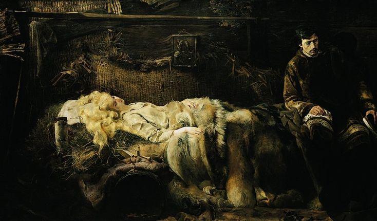 """Jacek Malczewski, """"Śmierć Ellenai"""", 1883, olej na płótnie, fot. Muzeum Narodowe w Krakowie"""