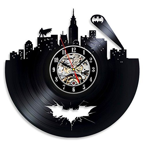 Batman Arkham City Logo Best Wall Clock - Decorate your home with Modern Large Superhero Art - Gift for friend, man and boy - Win a prize for a feedback Vinyl Evolution http://www.amazon.com/dp/B0182IZU4C/ref=cm_sw_r_pi_dp_7lR-wb0NK29SB
