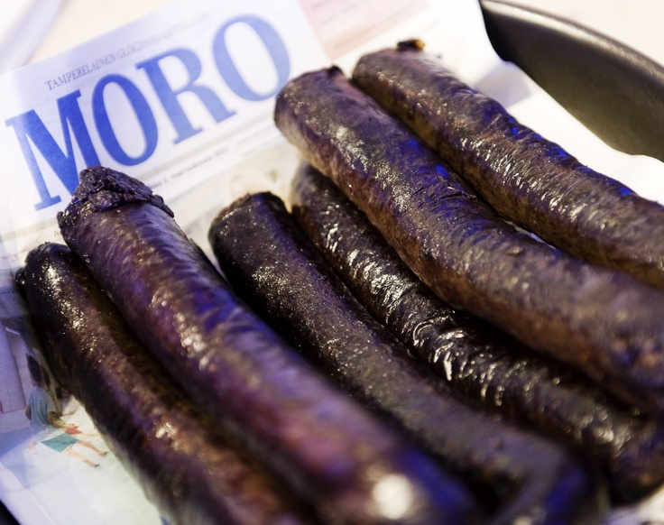 """Do you dare to taste the traditional """"black sausage""""! Yum!"""