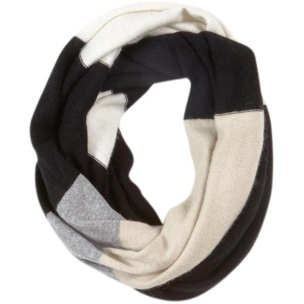 Kate Spade New York Colorblock Infinity Scarf ❤ liked on Polyvore featuring accessories, scarves, black multi, tube scarf, black circle scarf, circle scarves, loop scarves and kate spade