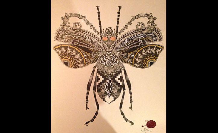 CRISTIAN ABRIGO LAGOS // Diseñador gráfico y Artista Visual. Ilustra animales, vegetación y naturaleza. Da un nuevo aire a las ilustraciones de flora y fauna con patrones de distintas etnias, hindú, maorí, mapuche, etc. Formas orgánicas que generan diferentes interpretaciones dentro de la ilustración. Entre tramas, moldes y patrones, reproduce mi entorno. Instagram: @Rajib Mahal #ilustracion #illustration #design #diseño #insects #insectos #ethnic #organic