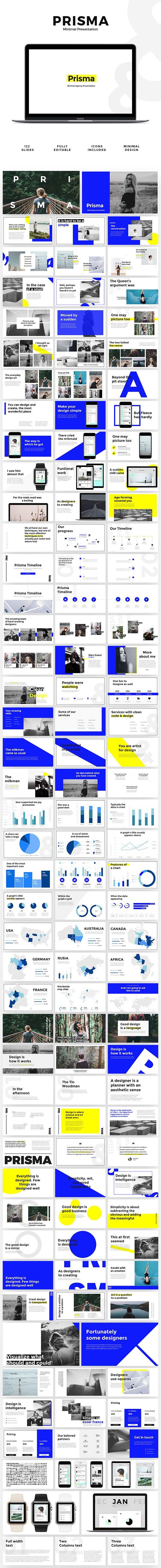 Prisma - Minimal Presentation - Creative #Keynote #Templates Download here: https://graphicriver.net/item/prisma-minimal-presentation/19509983?ref=alena994