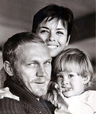 Steve McQueen, his wife Neile Adams, and their daughter Terry.