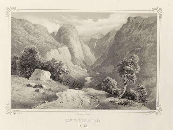 Norge fremstillet i Tegninger - Ukjent - Næröedalen i Sogn. jpg (4896×3688)