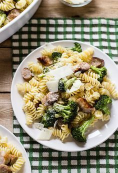 budget meals: pasta with roasted broccoli + chicken sausage   The Clever Carrot