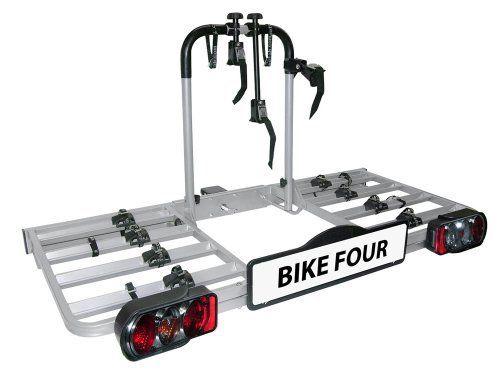 EUFAB BIKE FOUR 11437 Porte-vélos: Porte velo Bike Four Poids supporté: 80 Kg, Nombre de vélos: 4, Basulant: Non, Fixation: Attelage Porte…