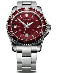 Victorinox Swiss Army Maverick Quartz Men's Watch, Stainless Steel, Red Dial, 241604