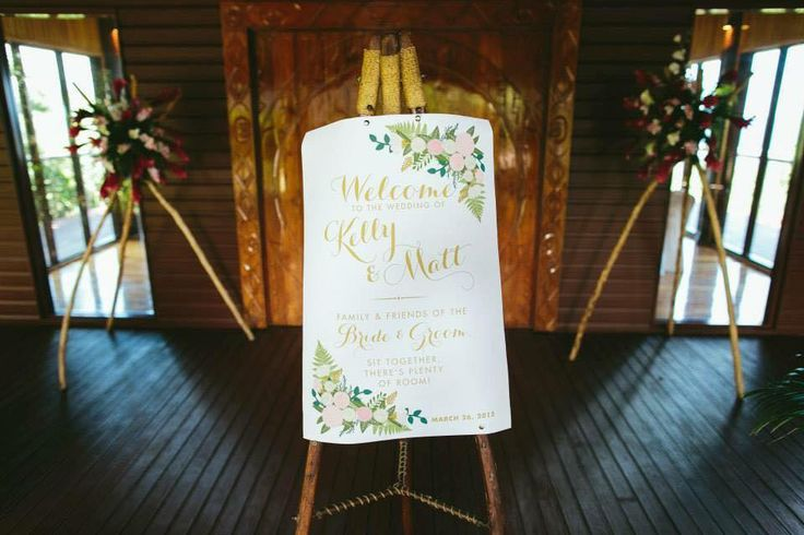 Outrigger Fiji Beach Resort Wedding Ideas Planning Inspiration Tropical Paradise Style Floral Design Planning Photography Signboard Calligraphy Easel Chapel Ceremony Memories Decorations
