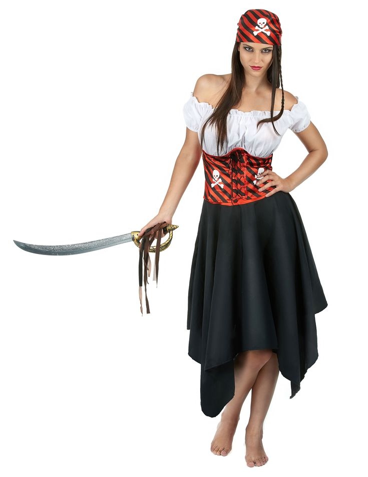 Las 25 mejores ideas sobre disfraz pirata mujer en - Disfraces caseros adulto ...