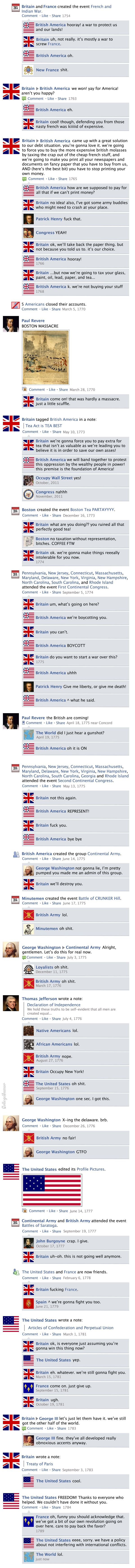 Facebook News Feed History of the World > American Revolution