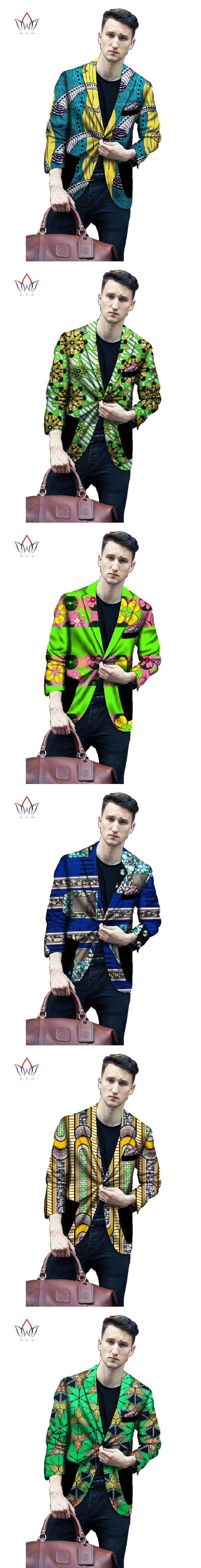 Custom Traditional African Clothing Men Suit Coat Men Blazers Brand Clothing Dashiki Men Clothes Elegant Plus Size BRW WYN147