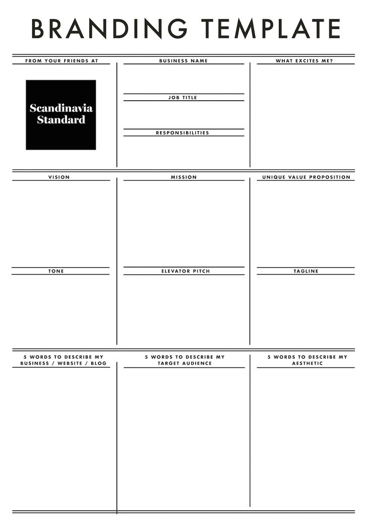 Branding Template - Scandinavia Standard