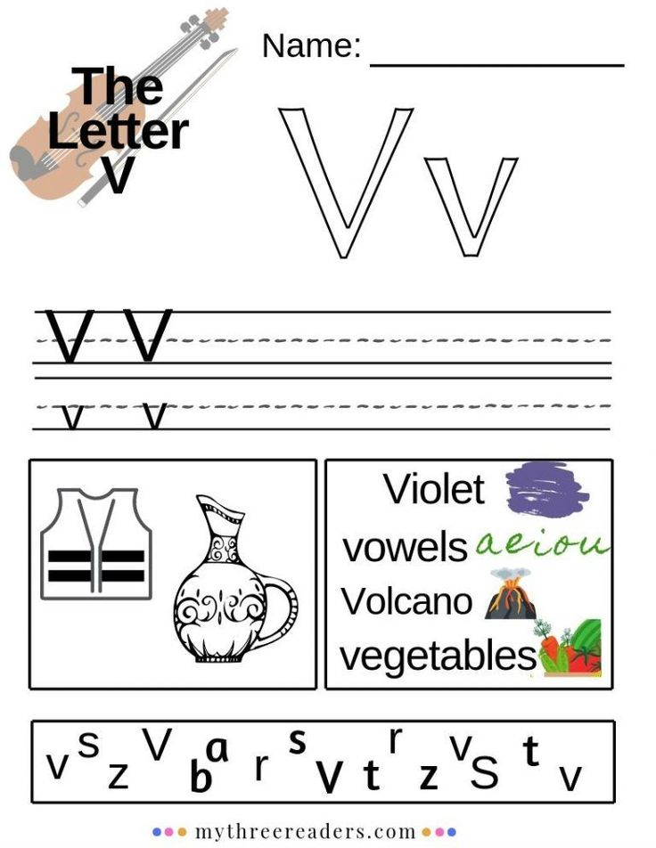 Letter V Printable Alphabet worksheets, Alphabet