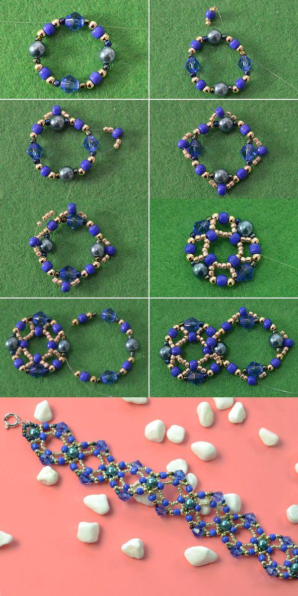 beaded bracelet, like it? LC.Pandahall.com will publish the tutorial soon. #pandahall