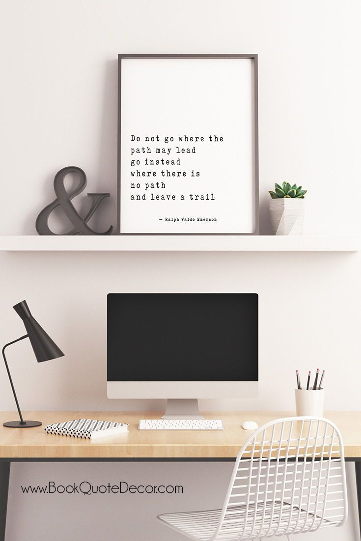 Ralph Waldo Emerson Success Quote Wall Art Positive Vibe Do Not