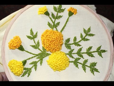 Hand Embroidery Flowers Stitch by Diy Stitching - 10 - YouTube