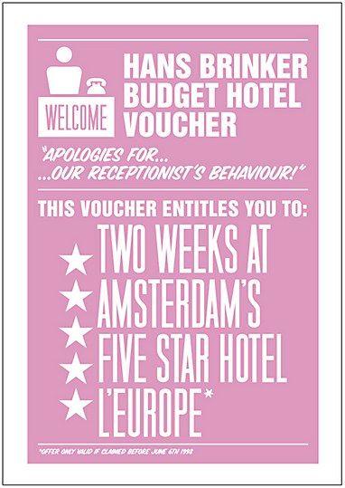Hans Brinker Budget Hotel vouchers