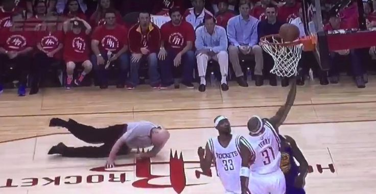 NBA Playoffs: Referee Joey Crawford Goes Down