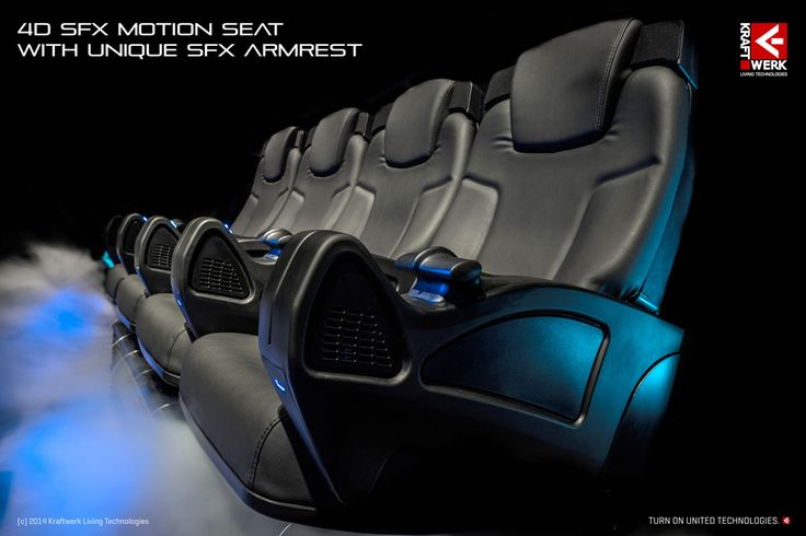 4D SFX Motion Seat with unique SFX Armrest // www.kraftwerk.at
