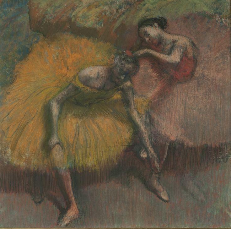 "| Edgar Degas | ""Deux danseuses jaunes et roses (Amarillo y rosa)"" | 1898 | Pastel y carbonilla sobre papel crema | 44 x 36 cm. | Inv. 7737 | http://www.mnba.gob.ar/coleccion/obra/7737 |"