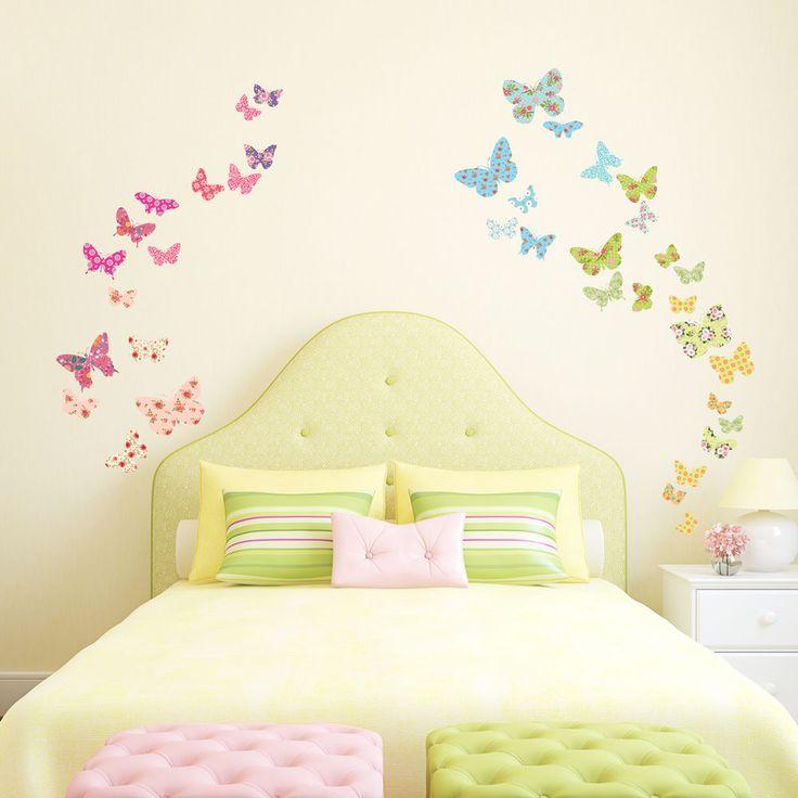 Decowall Butterflies Wall Stickers Home Nursery Decals Children 1408 PVC Vinyl #DecowallDW1408 #ModernEducationalGoodforLivingRoom