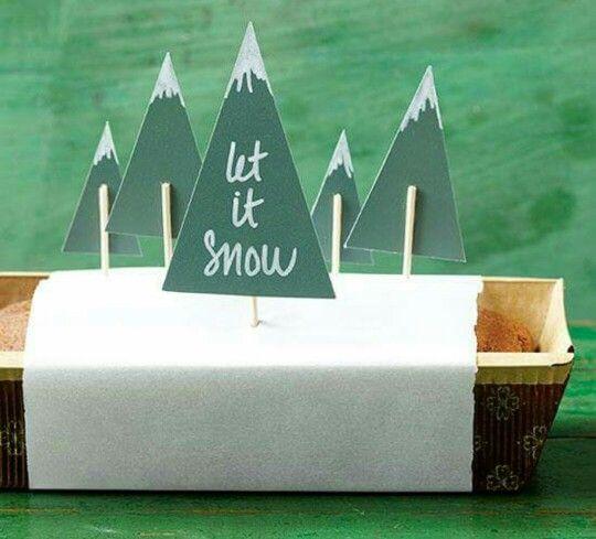 Let it snow, leuk #DIY ideetje voor een cake