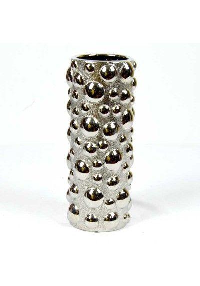 Jarrón. Material usado porcelana. Color pateado brillo y mate.  Decora el mueble auxiliar, mesa de centro, entrada, recibidor con este jarrón de diseño. Envío en 24h.