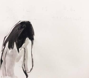 """Saatchi Art Artist Monica Bonzano; Drawing, """"SKETCH BATHROOM 301215"""" #art"""