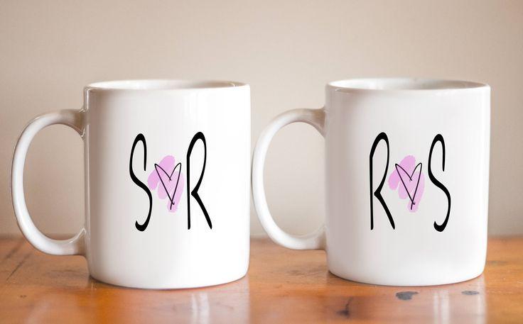 Couples Custom Initials Coffee Mug - Mug Pairs - Coffee Mug Sets - Coffee Mugs For Couples - Mugs For Him - Mugs For Her - Personalized Mug - Custom Name Coffee Mug - Coffee Mugs For Spouse - Spouse Mug - Anniversary Mug - Mom and Dad Mug - His and Hers Mug - Couples Mugs