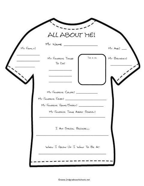 Special School Worksheets : T shirt template all season pen pal templates