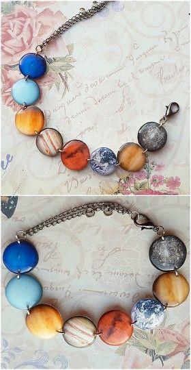 Planetarium Bracelet #planetarium #bracelet #planets #solar #system #rayolabijoux on #etsy #universe #mars #saturn #neptune #venus #uranus
