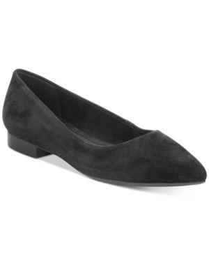 Bella Vita Vivien Pointed-Toe Flats  - Black 7.5WW