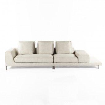 Modern Ernest Sectional Sofa - Beige