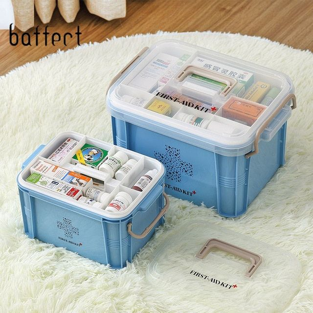 First Aid Kit Organizer Plastic Storage Container Large Medical Box Multi Layer Medicine Box Nordic Home Organizing Boxes Review Medicine Boxes Plastic Container Storage Medicine Storage