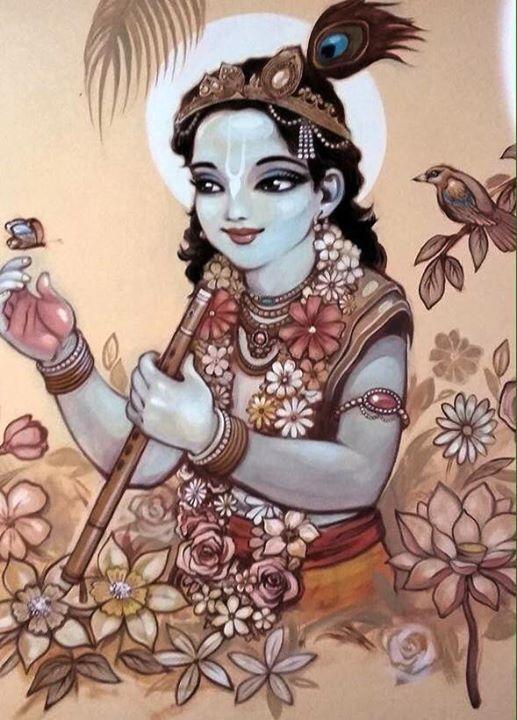 Śrī Krishna. (Graffiti by Kardami Kapila pr.)