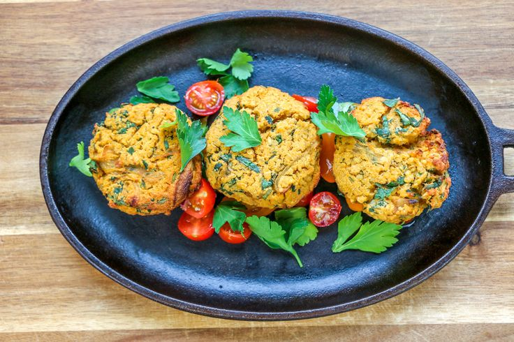 Red Lentil Koftas - This Middle Eastern dish made with lentils is a must for anyone who loves exotic spices and flavours.  Served with a garden-fresh tomato salad, it's a tasty combo that packs a lot of punch in a single plate! You are going to love these vegan and healthy Red Lentil Koftas!