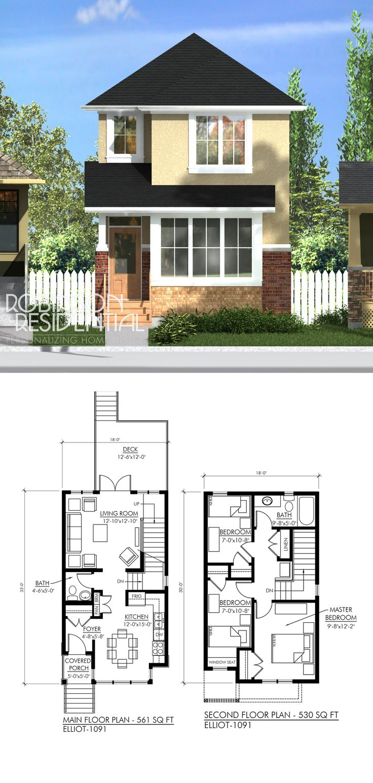 1091 sq ft 2 storey 3 bedroom 2 bathroom