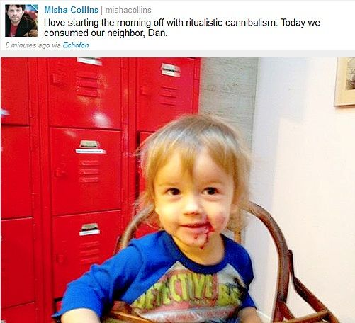 "Misha and West Collins on Twitter, ""Ritualistic Cannibalism"""