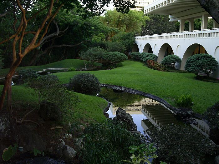 Japanese garden at University of Hawaii at Manoa...spent many afternoons here with my husband