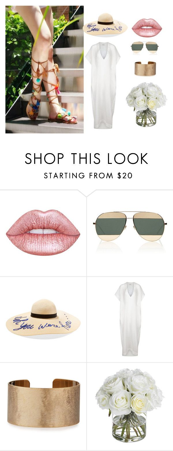 """holiday season"" by celfieco ❤ liked on Polyvore featuring Lime Crime, Christian Dior, Eugenia Kim, lila.eugenie, Panacea and Diane James"