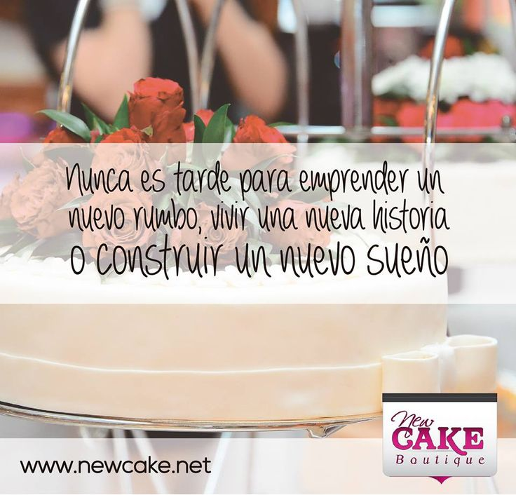 Nunca es tarde para emprender un nuevo rumbo, vivir una nueva historia o construir un nuevo sueño.  www.newcake.net #newcakeboutique #weddingcake #cakeart #marcoantoniolopez #cursoscakes