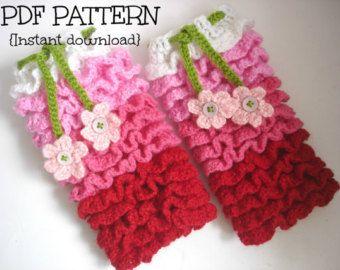 Crochet pattern, crochet leg warmer pattern, Ruffles all over legwarmer, newborn to 2 years - 4 sizes, Pattern No. 24